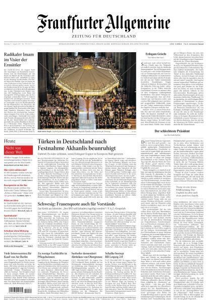Frankfurter Allgemeine Zeitung 21 August 2017