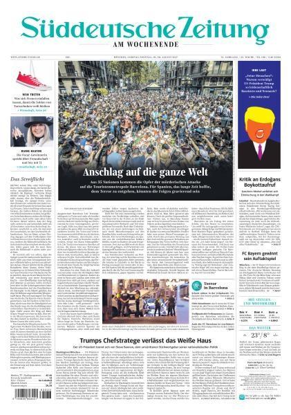 Sueddeutsche Zeitung 19 August 2017