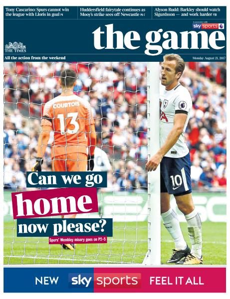 The Times The Game 21 August 2017