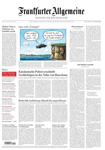 Frankfurter Allgemeine Zeitung 22 August 2017