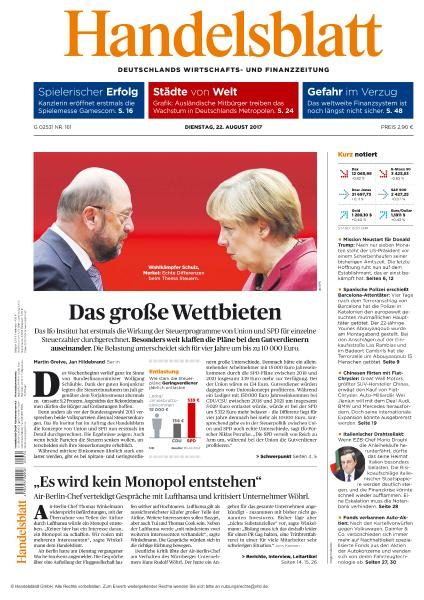 Handelsblatt 22 August 2017