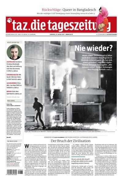 Taz die tageszeitung 22 August 2017