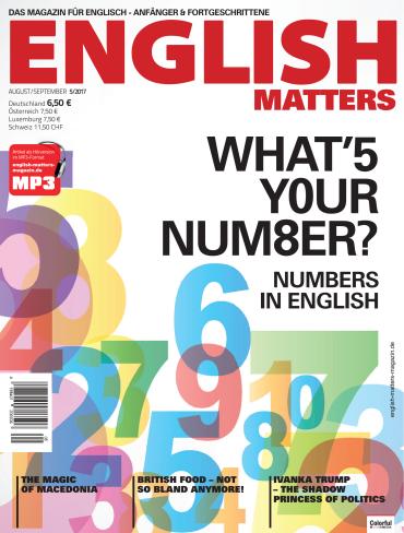 English Matters Das Magazin fuer Englischlerner August September Nr 05 2017