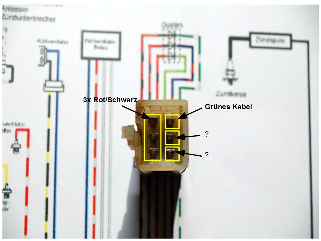 KAWASAKI KLR Forum :: Thema anzeigen - 650A Kabelbelegung Diode?