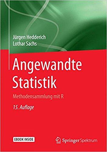 Buch Cover für Angewandte Statistik: Methodensammlung mit R by Jürgen Hedderich