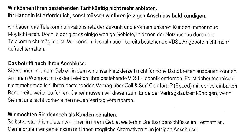Telekom Kündigt Wegen Leistungseinschränkung Haustechnikdialog