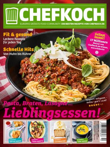 magazine for Chefkoch Magazin September No 10 2017