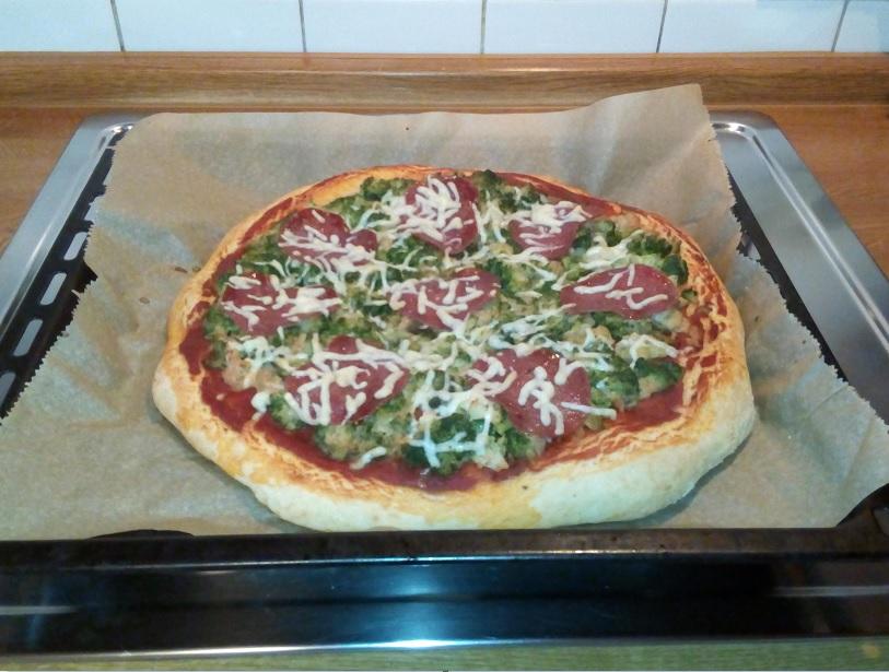 Pizza Nach dem Backen