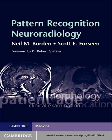 Pattern Recognition Neuroradiology Pdf