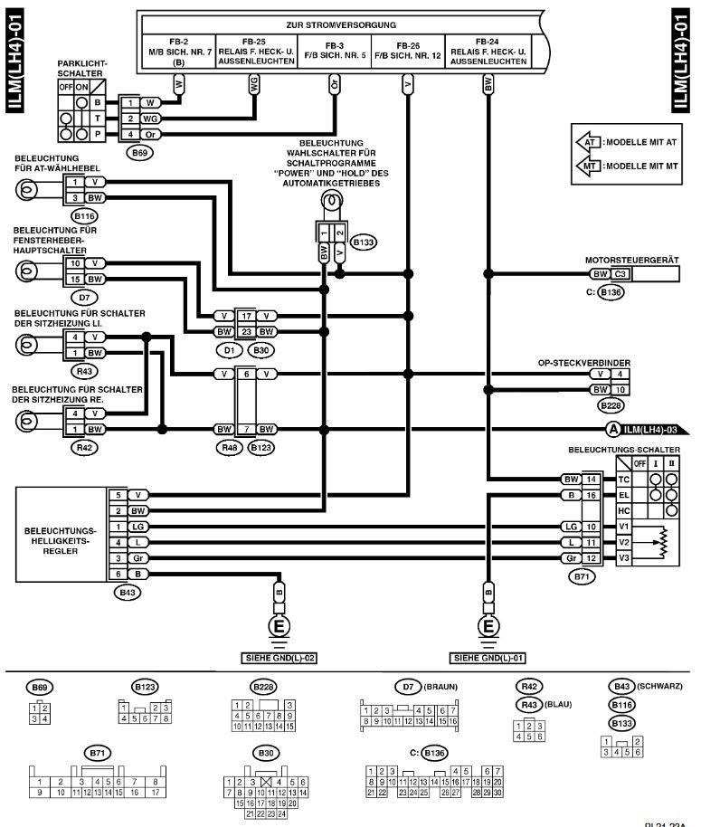 Charmant Subaru Verdrahtungsschema Fotos - Elektrische Schaltplan ...