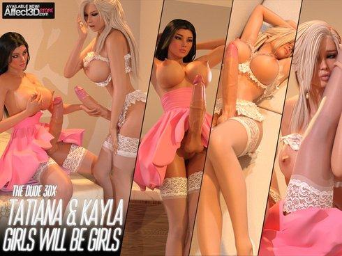 Tatiana And Kayla Girls Will Be Girls Cover