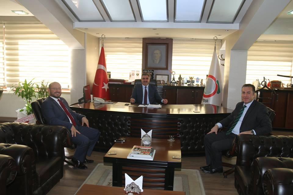 Niksar Kaymakamı ve Belediye Başkanı'ndan Belediye Başkanımız Cafer Özdemir'e Ziyaret