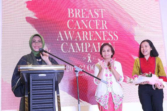 Fatma Saifullah Ajak Kaum Wanita Cegah Kanker Payudara Sejak Dini