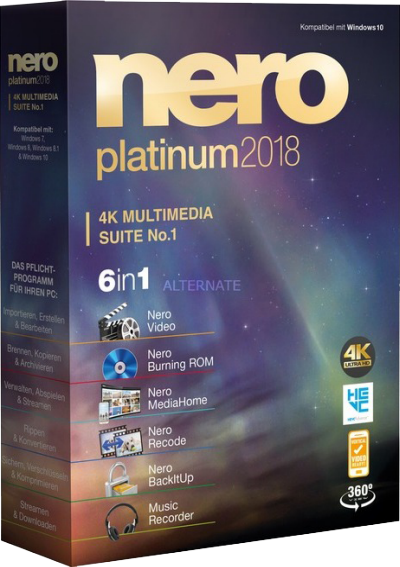 Nero Platinum 2018 Suite v19.0.07300