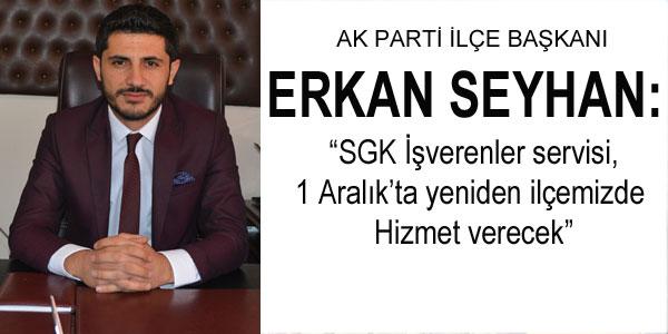 Başkan Erkan Seyhan İşverenlere müjde verdi