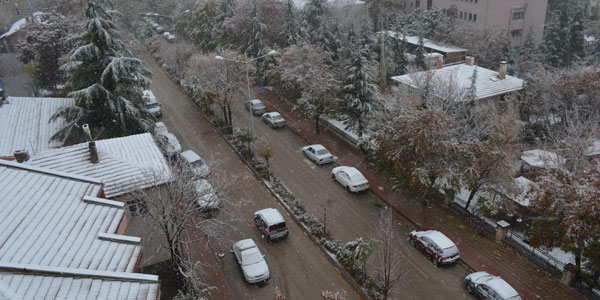 ilk kar Salı günü yağdı
