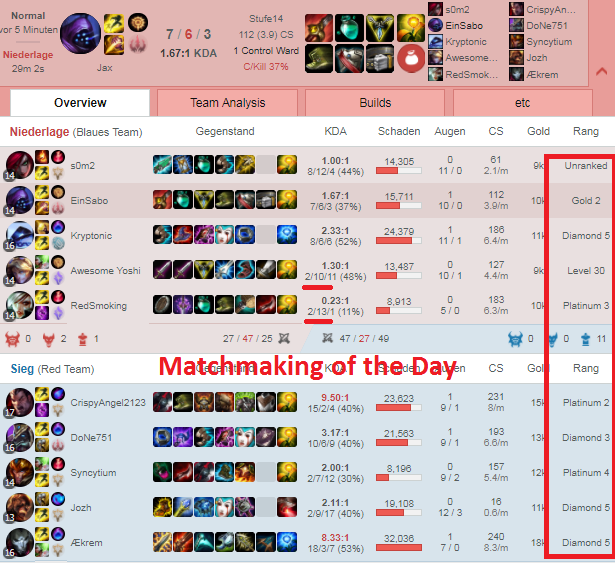 matchmaking normal league of legends