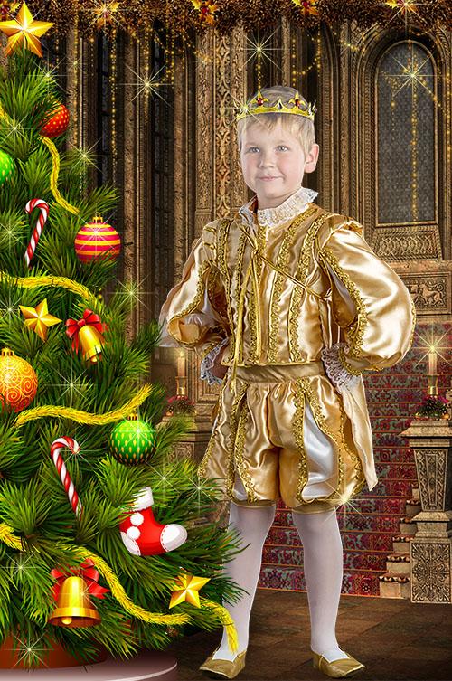 Детский шаблон для фотошопа - Костюм принца