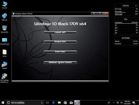 Microsoft Windows 10 Fall Update v1709 Black Edition (x64)