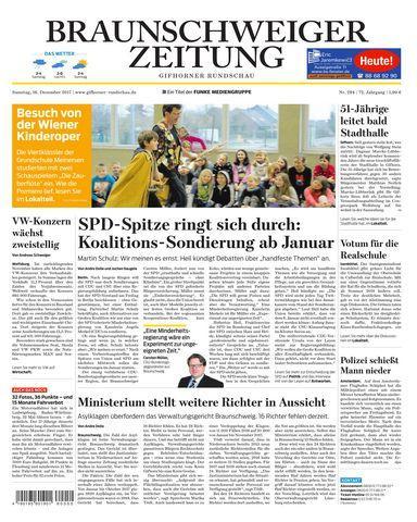 Braunschweiger Zeitung Gifhorner Rundschau 16 Dezember 2017