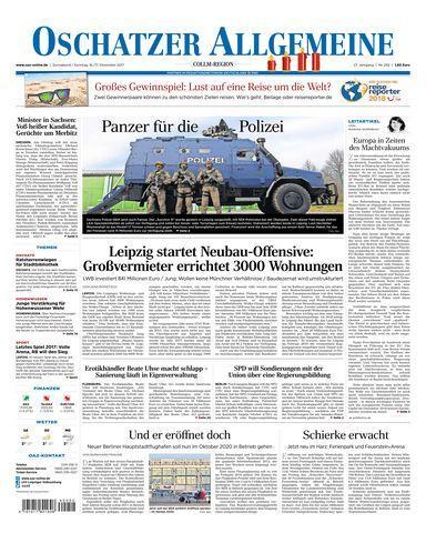 Oschatzer Allgemeine Zeitung 16 Dezember 2017