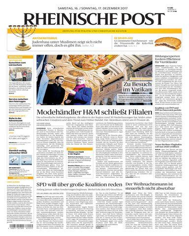 Rheinische Post Duesseldorf Meerbusch 16 Dezember 2017