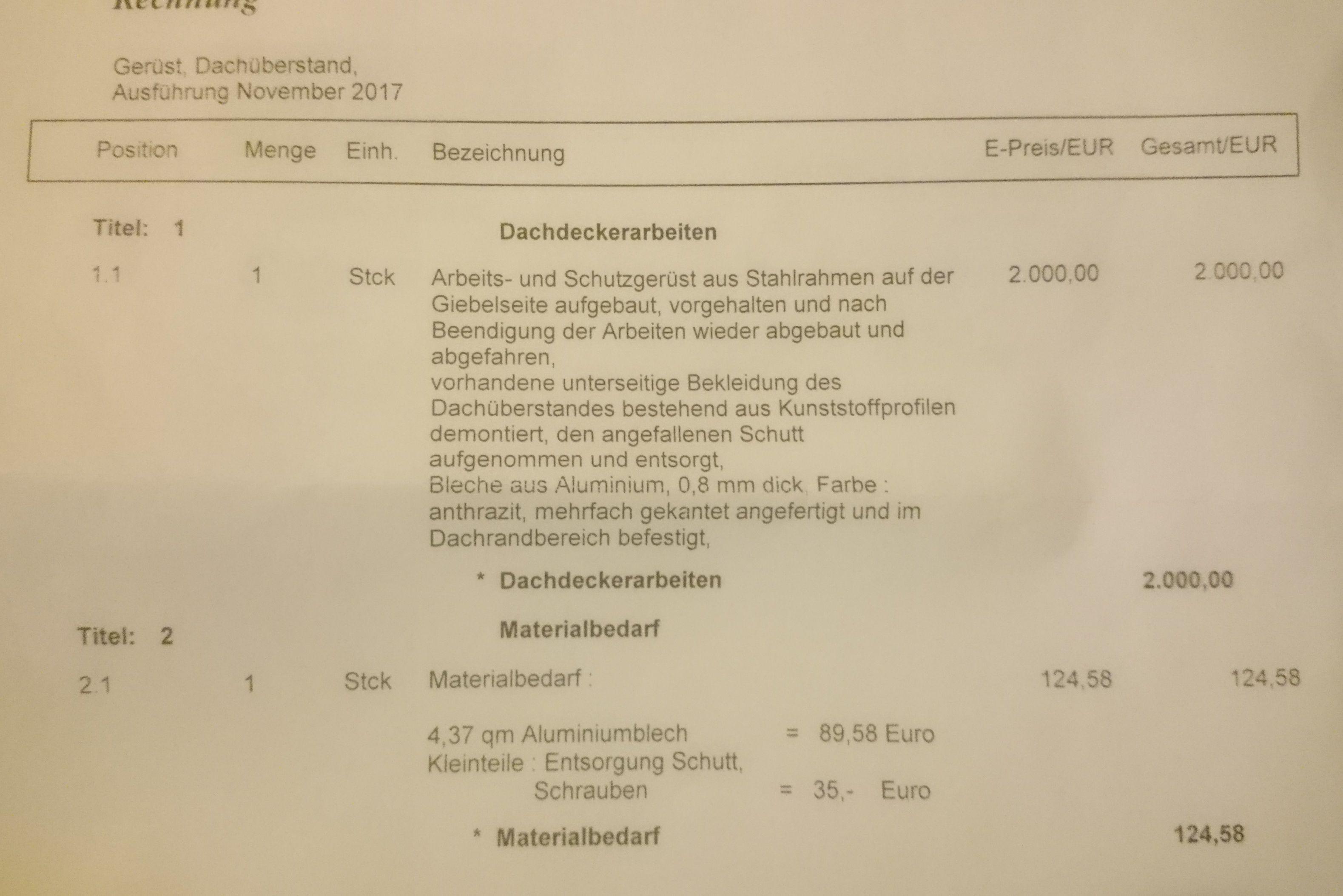 Lohnsteuererstattung Berechnen : handwerkerrechnung von kinderhand erstellt so absetzung ~ Themetempest.com Abrechnung