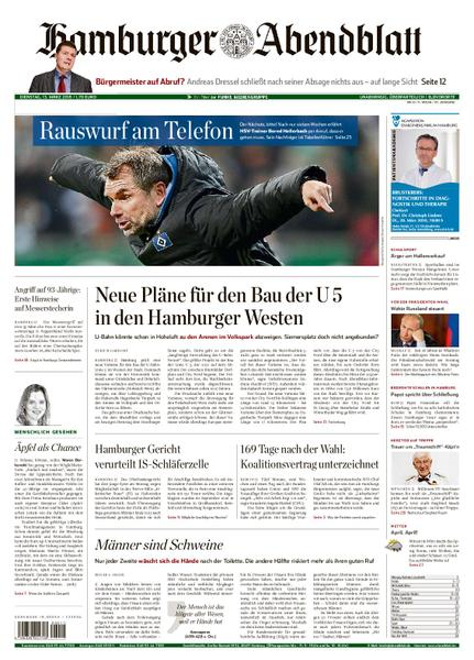 : Hamburger Abendblatt Elbvororte 13 Maerz 2018
