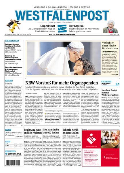 : Westfalenpost Meschede 13 Maerz 2018
