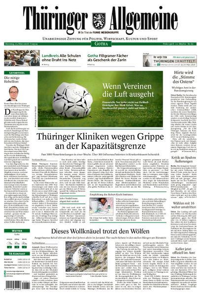 : Thueringer Allgemeine Gotha 13 Maerz 2018