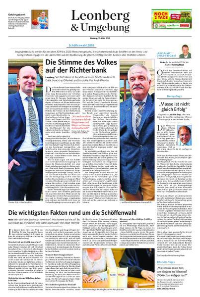 : Leonberg und Umgebung 13 Maerz 2018