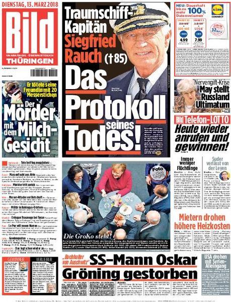 : Bild Zeitung Thueringen 13 Maerz 2018
