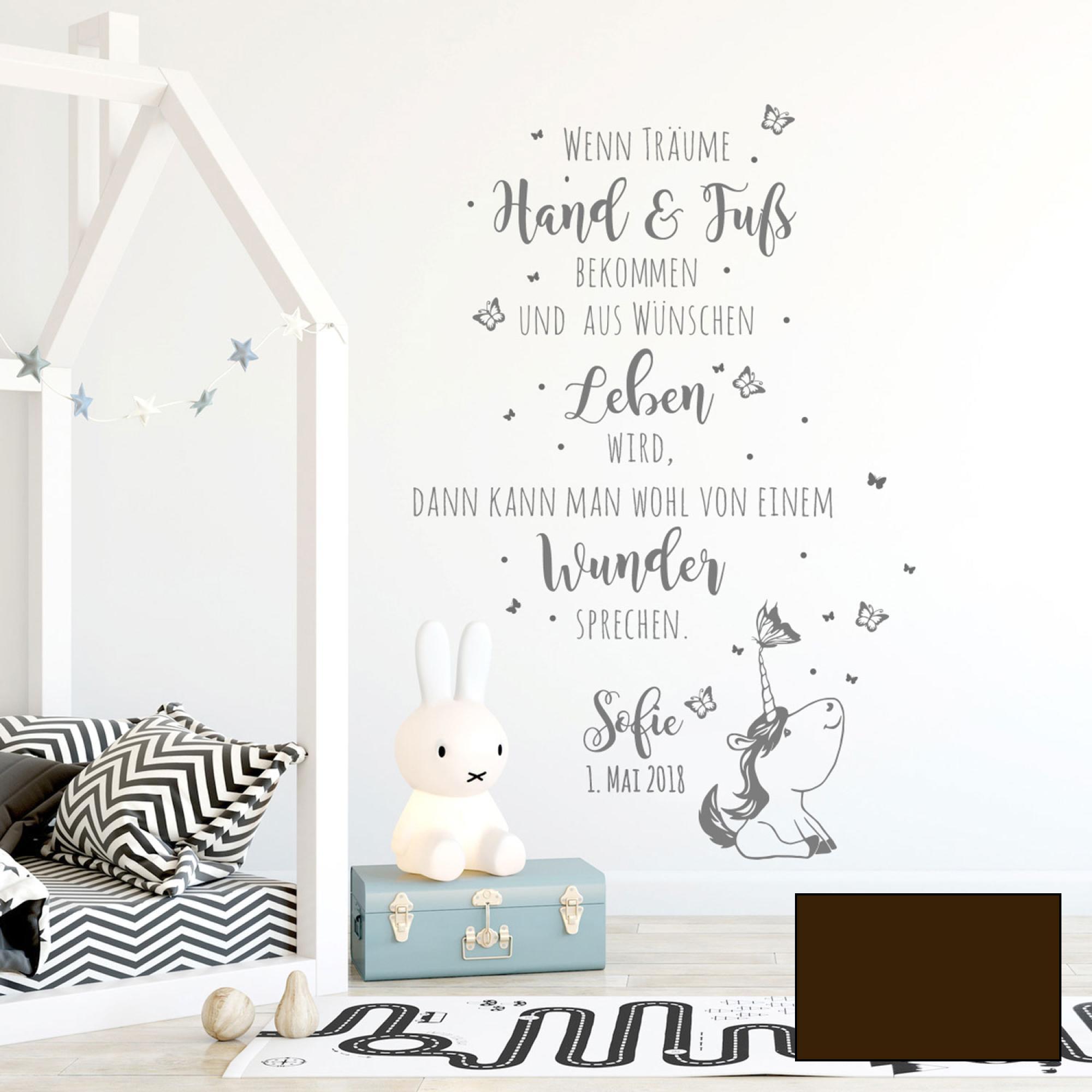 Wunderschön Babyzimmer Wanddeko Ideen Von Wandtattoo-spruch-wunder-babyzimmer-wanddeko-kinder-name-wandgestaltung-