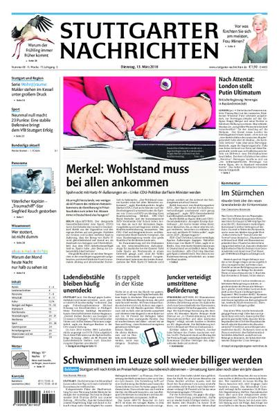 : Stuttgarter Nachrichten Fellbach und Rems Murr Kreis 13 Maerz 2018