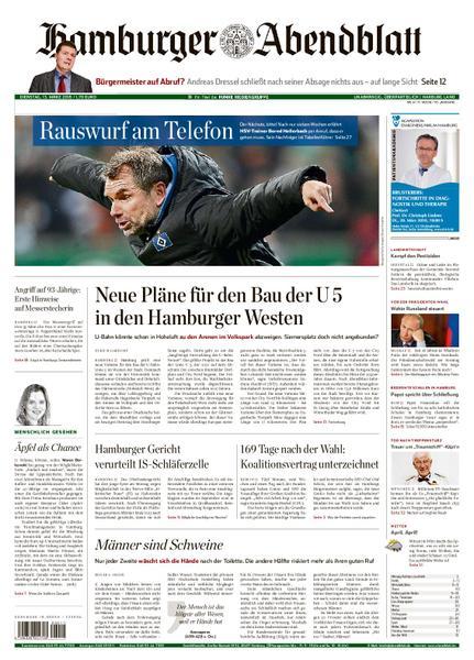 : Hamburger Abendblatt Harburg Land 13 Maerz 2018