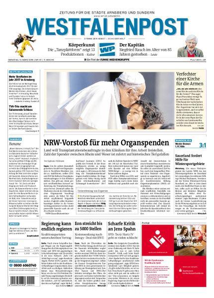 : Westfalenpost Arnsberg 13 Maerz 2018