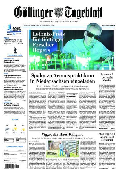 : Goettinger Tageblatt 13 Maerz 2018