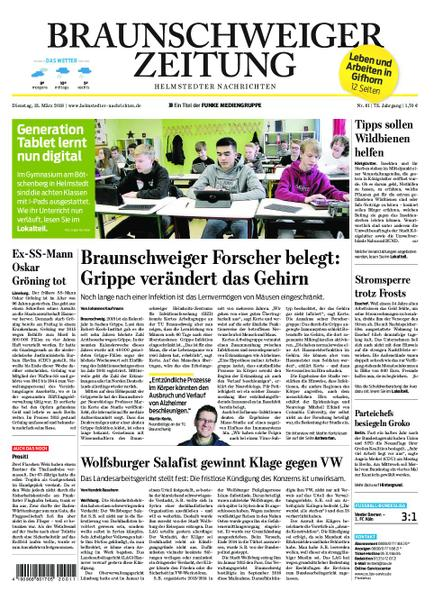 : Braunschweiger Zeitung Helmstedter Nachrichten 13 Maerz 2018