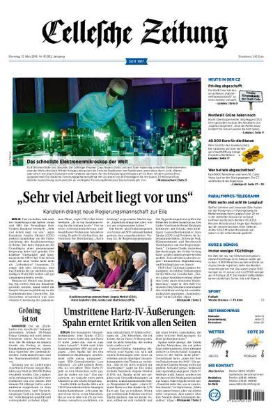: Cellesche Zeitung 13 Maerz 2018