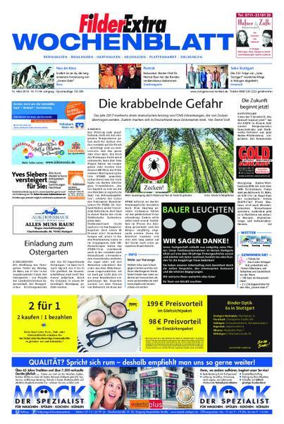 : FilderExtra Wochenblatt Filderstadt Ostfildern und Neuhausen 14 Maerz 2018