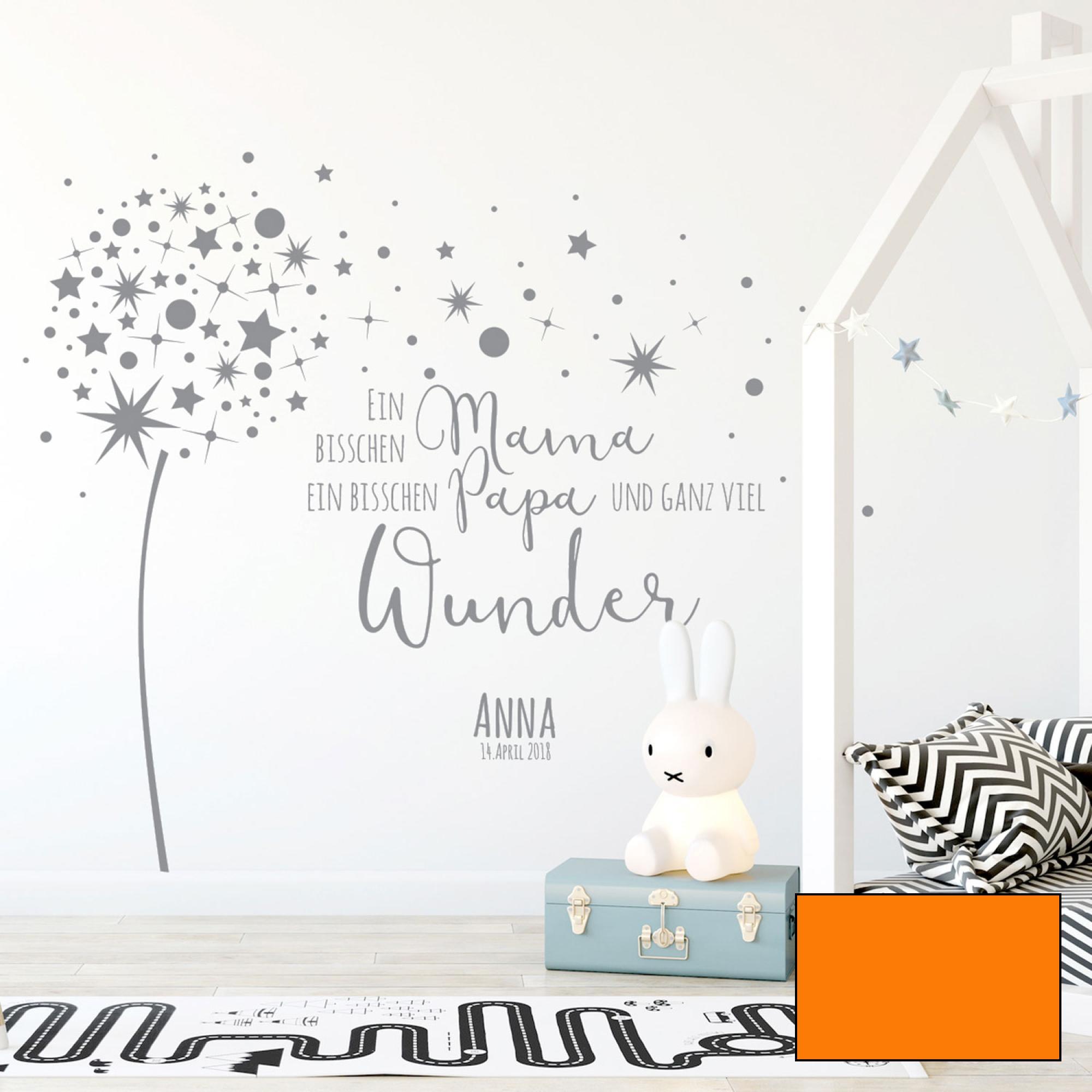 Wandtattoo spruch viel wunder babyzimmer wanddeko name for Babyzimmer wanddeko