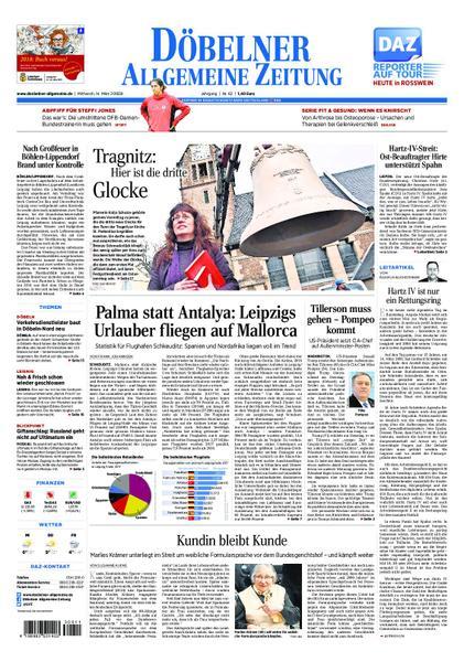 : Doebelner Allgemeine Zeitung 14 Maerz 2018