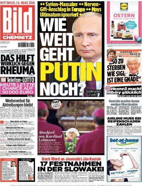 : Bild Zeitung Chemnitz 14 Maerz 2018