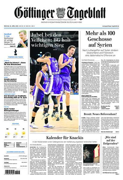 Goettinger Tageblatt 16 April 2018
