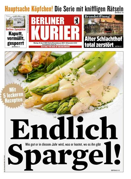 Berliner Kurier 16 April 2018