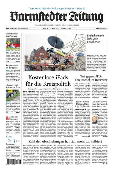 Barmstedter Zeitung 16 April 2018