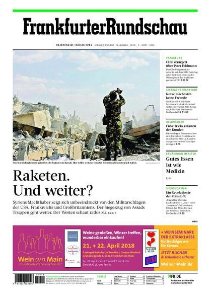 Frankfurter Rundschau Stadtausgabe 16 April 2018