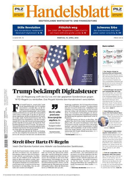 Handelsblatt 16 April 2018