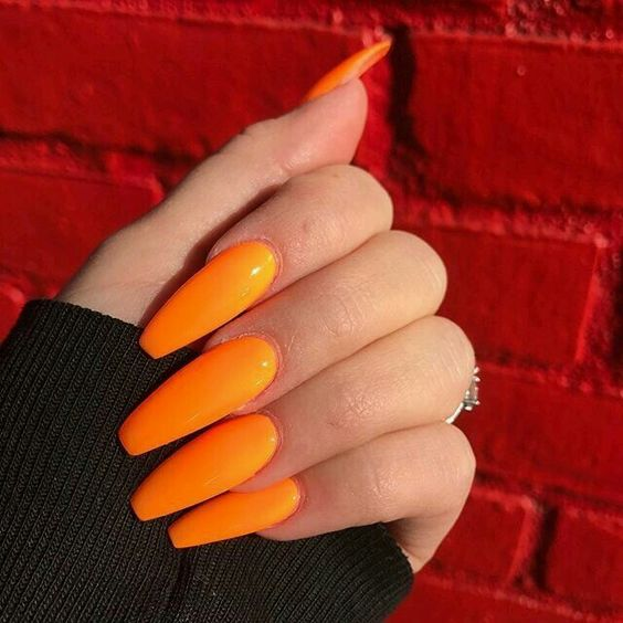 33 Trendy Fall Nails Orange Coffin Nails Designs Fashionre