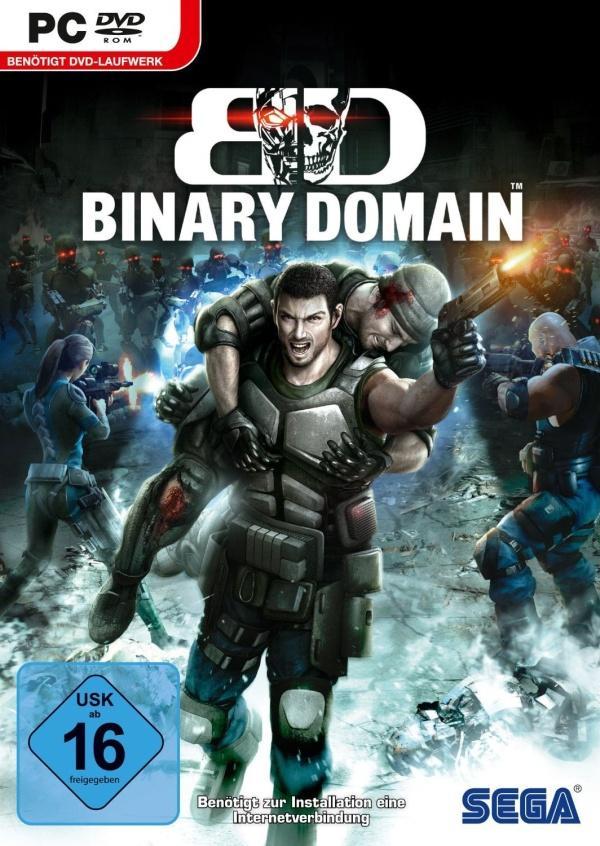 Binary Domain Deutsche  Texte, Menüs, Videos, Stimmen / Sprachausgabe Cover